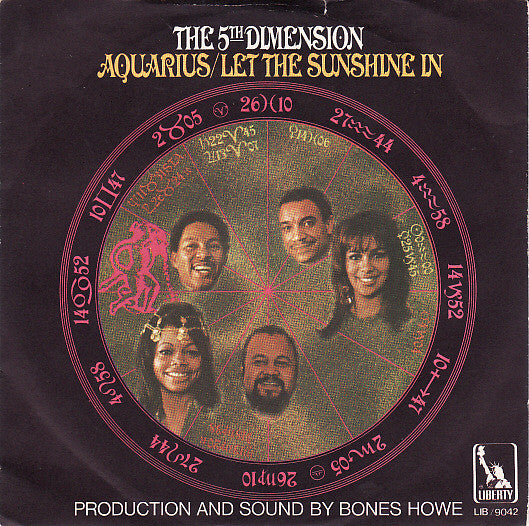 "The 5th Dimension* - Aquarius / Let The Sunshine In (7"") - USED"