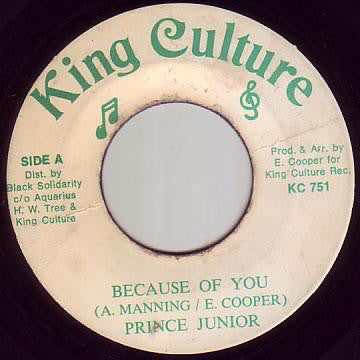 "Prince Junior (2) - Because Of You (7"") - USED"