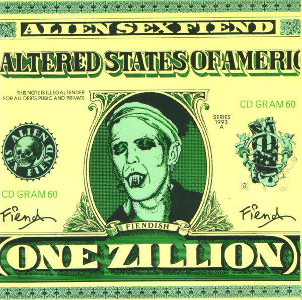 Alien Sex Fiend - The Altered States Of America (CD, Album) - USED