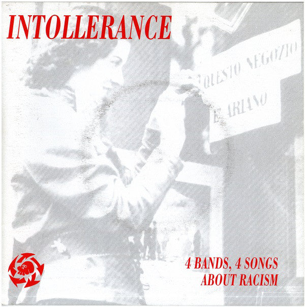 "Various - Intollerance (4 Bands, 4 Songs About Racism) (7"", EP) - USED"