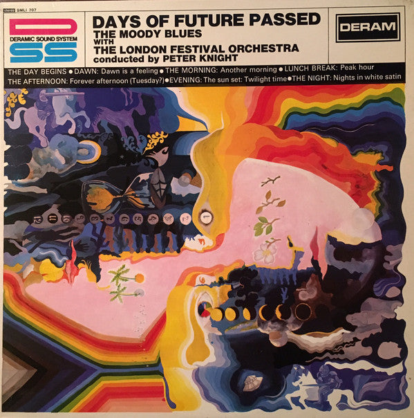 The Moody Blues With The London Festival Orchestra Conducted By Peter Knight (5) - Days Of Future Passed (LP, Album, RP) - USED