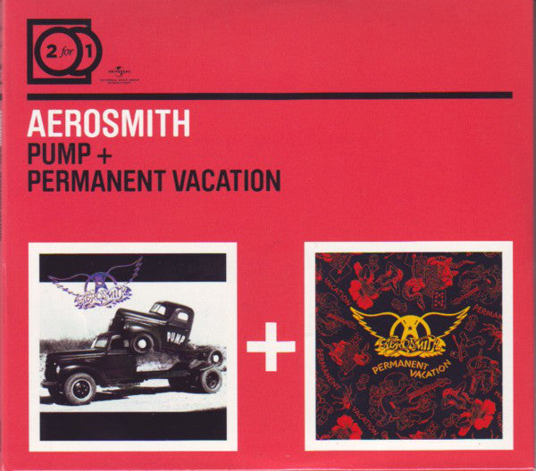Aerosmith - Pump + Permanent Vacation (2xCD, Album + Comp, RM) - USED