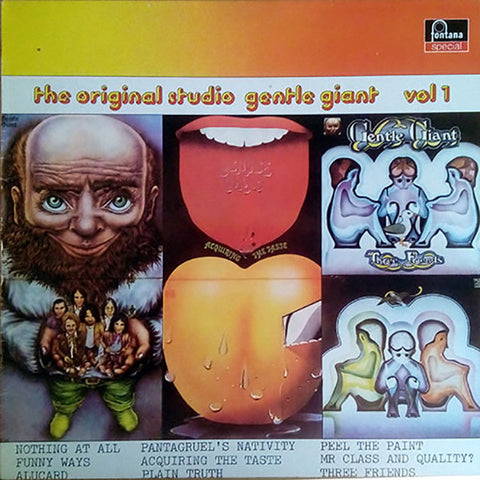 Gentle Giant - The Original Studio Gentle Giant - Vol. 1 (LP, Comp) - USED