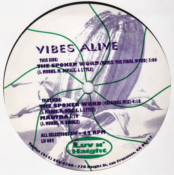 "Vibes Alive - The Spoken Word / Mantra (12"") - USED"