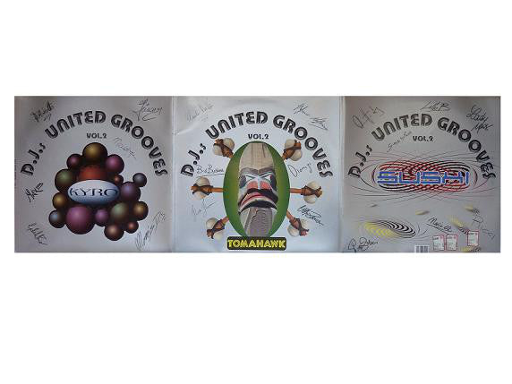 "Various - DJ's United Grooves Vol. 2 (Tomahawk Disc) (Sushi Disc) (Kyro Disc) (3x12"") - USED"