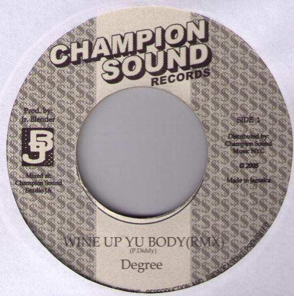 "Degree* / Akon - Wine Up Yu Body / Locked Up Remixes (7"", Unofficial) - USED"