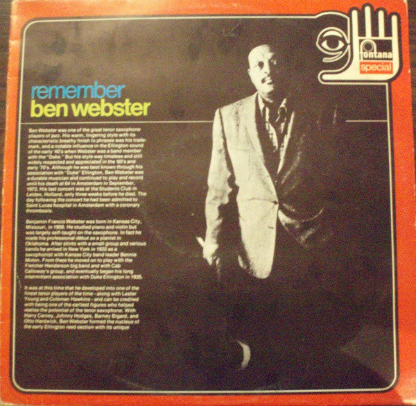 Ben Webster - Remember Ben Webster (LP, Album, RE) - USED