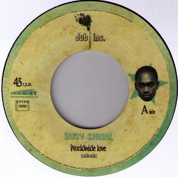 "Busy Signal - Worldwide Love (7"") - USED"