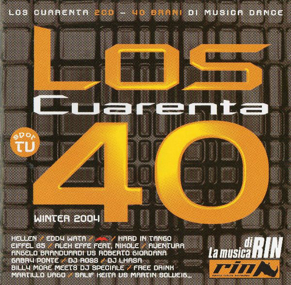 Various - Los Cuarenta Winter 2004 (2xCD, Comp, Mixed) - USED