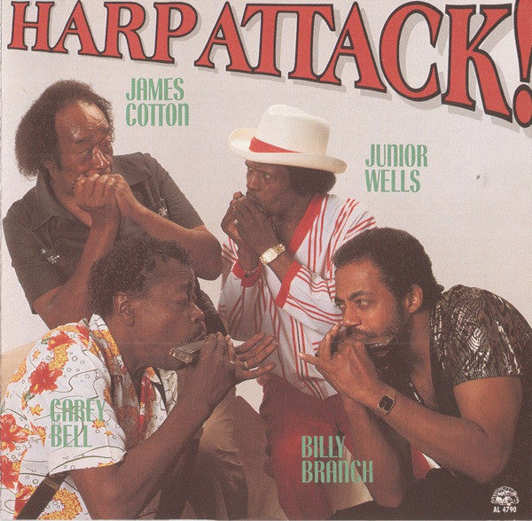 James Cotton, Junior Wells, Carey Bell, Billy Branch - Harp Attack! (CD, Album) - USED