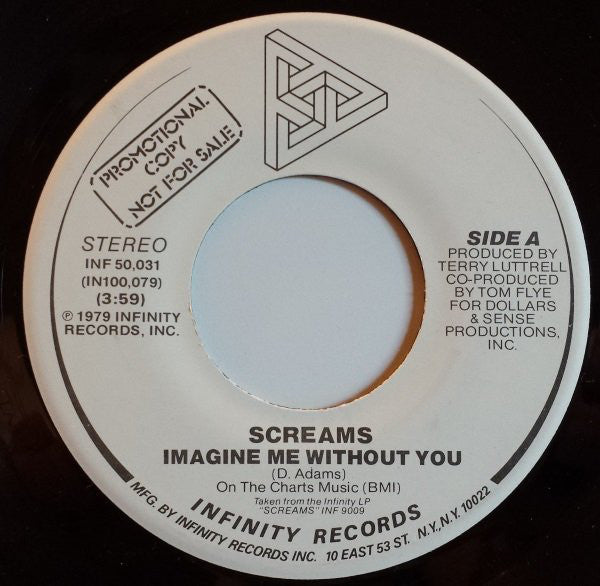 "Screams - Imagine Me Without You (7"") - USED"