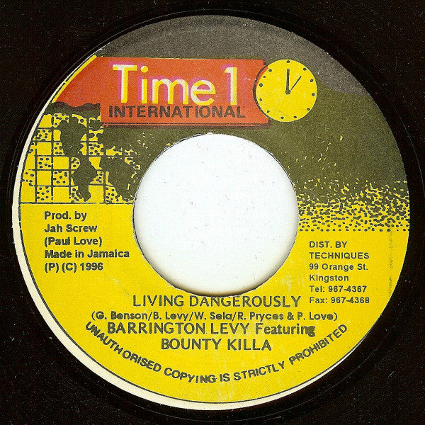 "Barrington Levy / Bounty Killer - Living Dangerously (7"") - USED"