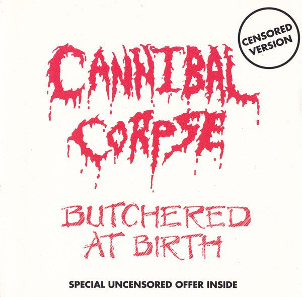 Cannibal Corpse - Butchered At Birth (CD, Album, RE, Cen) - USED
