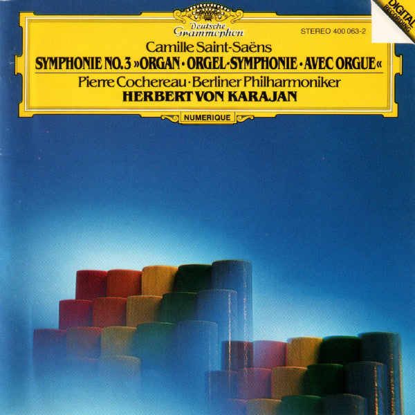 "Saint-Saëns* - Karajan*, Berliner Philharmoniker, Pierre Cochereau - Symphonie No. 3 - ""Organ"" (CD, Album) - USED"