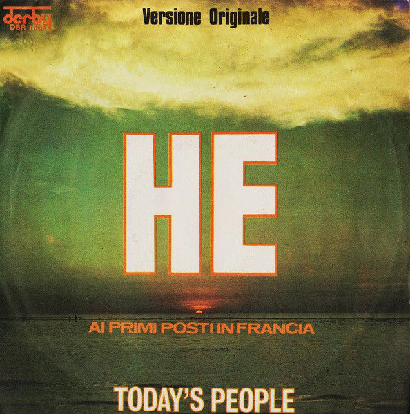 "Today's People (2) - He (7"", Single) - USED"