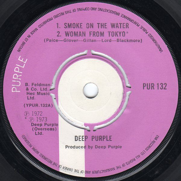 "Deep Purple - Smoke On The Water / Woman From Tokyo / Child In Time (7"", EP, 2nd) - USED"