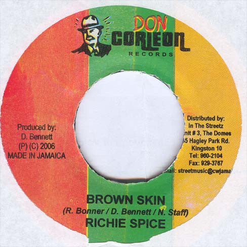 "Richie Spice - Brown Skin (7"", Single) - USED"