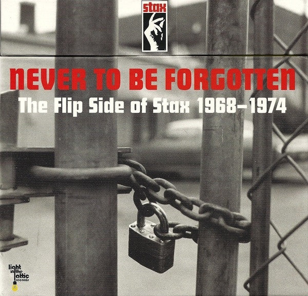 "Various - Never To Be Forgotten - The Flip Side Of Stax 1968-1974 (10x7"", Ltd, Num, Box) - NEW"