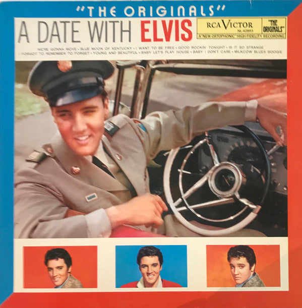 Elvis Presley - A Date With Elvis (LP, Comp, RE) - USED