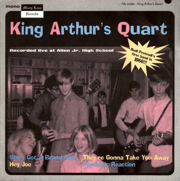 "King Arthur's Quart - Live At Allen Jr. High School (7"", EP, Mono, Ltd, Num) - USED"