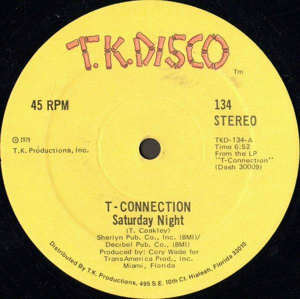 "T-Connection - Saturday Night (12"") - USED"