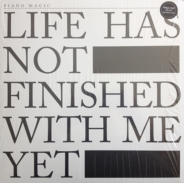 Piano Magic - Life Has Not Finished With Me Yet (LP, Album) - NEW