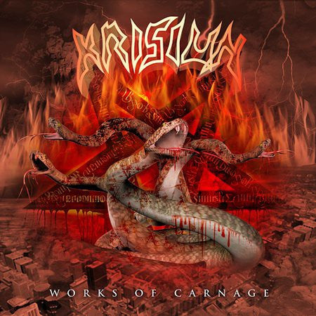 Krisiun - Works Of Carnage (CD, Album, Enh) - USED