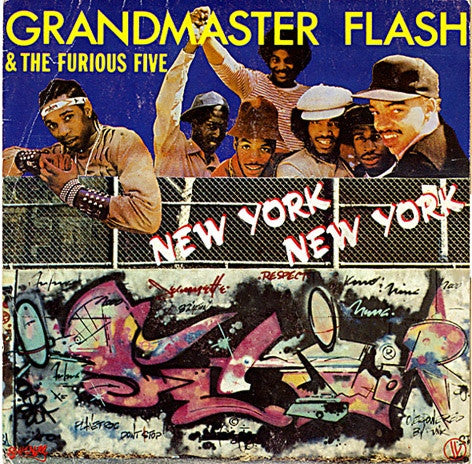 "Grandmaster Flash & The Furious Five - New York New York (7"", Single) - USED"