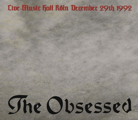The Obsessed - Live Music Hall Köln December 29th 1992 (LP, Album, Ltd, Red) - NEW
