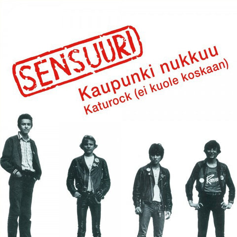 "Sensuuri - Kaupunki Nukkuu (7"", Single, Ltd, RE, Red) - USED"