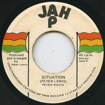 "Peter Roots - Situation (7"") - USED"