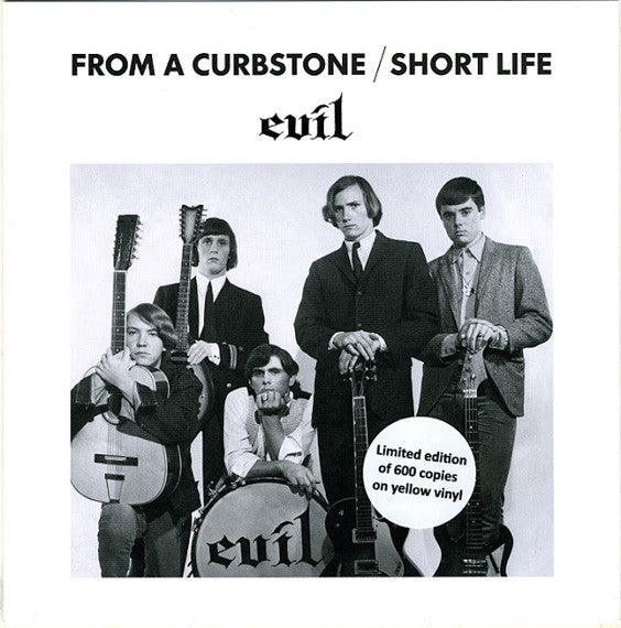 "Evil* - From A Curbstone / Short Life (7"", Single, Ltd, RM, Yel) - NEW"