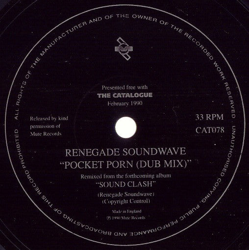 "Renegade Soundwave - Pocket Porn (Dub Mix) (Flexi, 7"", Shape, S/Sided, Squ) - USED"