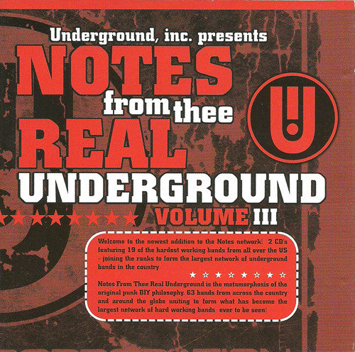 Various - Notes From Thee Real Underground Volume 3 (2xCD, Comp) - USED