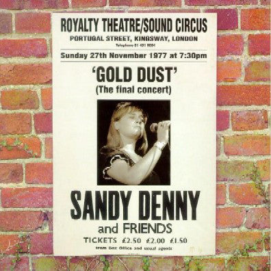 Sandy Denny - Gold Dust - Live At The Royalty (CD, Album) - NEW