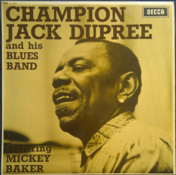 Champion Jack Dupree And His Blues Band* Featuring Mickey Baker - Champion Jack Dupree And His Blues Band Featuring Mickey Baker (LP, Album, Mono) - USED