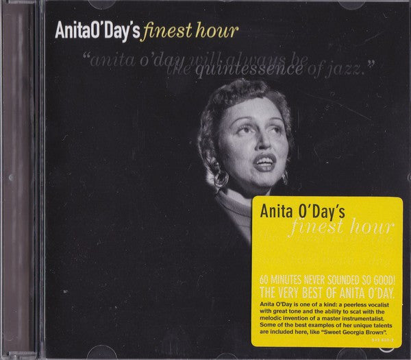 Anita O'Day - Anita O'Day's Finest Hour (CD, Comp, RM) - USED