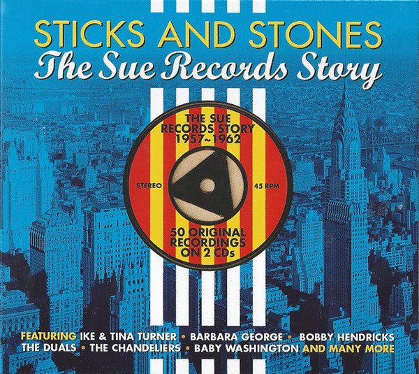 Various - Sticks And Stones - The Sue Records Story (2xCD, Comp, Dig) - USED