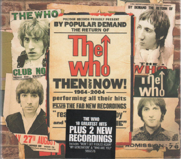 The Who - Then And Now (CD, Comp, Dig) - USED