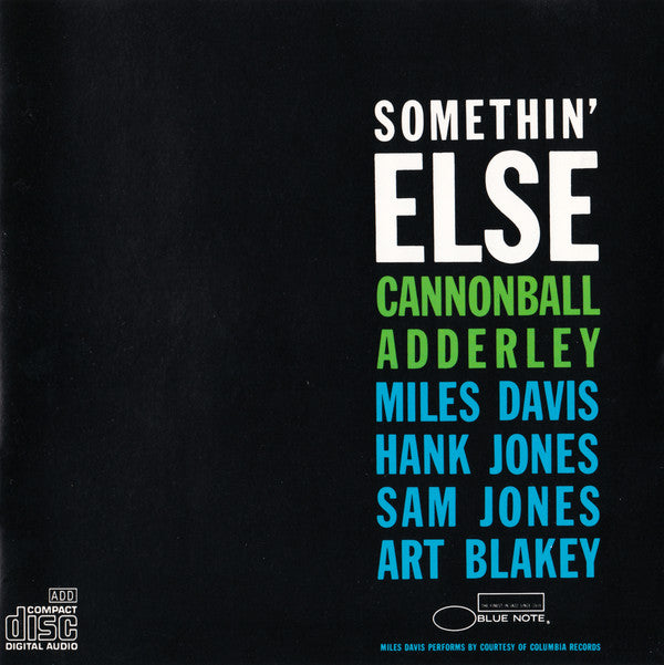 "Julian ""Cannonball"" Adderley* - Somethin' Else (CD, Album, RE) - USED"