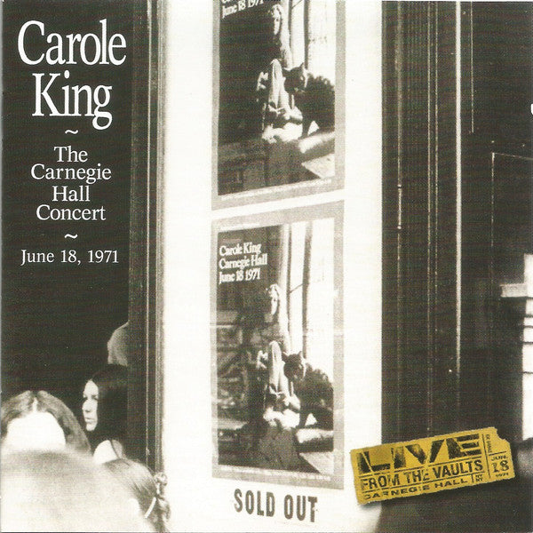 Carole King - The Carnegie Hall Concert (CD, Album) - USED