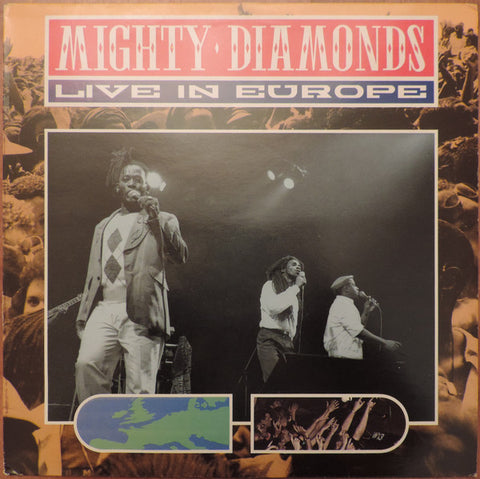 Mighty Diamonds* - Live In Europe (LP, Album) - USED