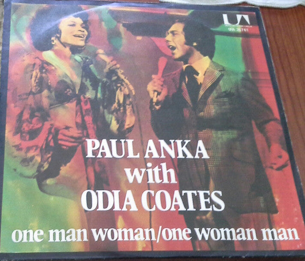 "Paul Anka With Odia Coates - One Man Woman / One Woman Man (7"") - USED"