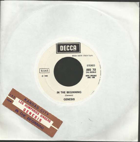 "Genesis / The Les Humphries Singers* - In The Beginning (7"", Jukebox) - USED"