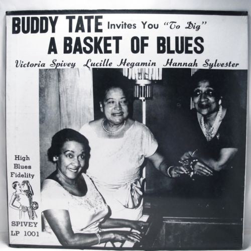 Buddy Tate, Victoria Spivey, Lucille Hegamin, Hannah Sylvester - A Basket Of Blues (LP, Album, Mono) - USED