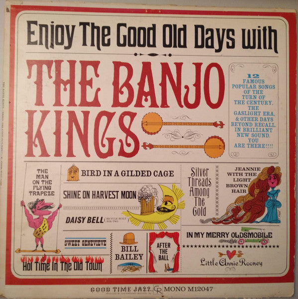 The Banjo Kings - Enjoy The Good Old Days With (LP, Mono) - USED