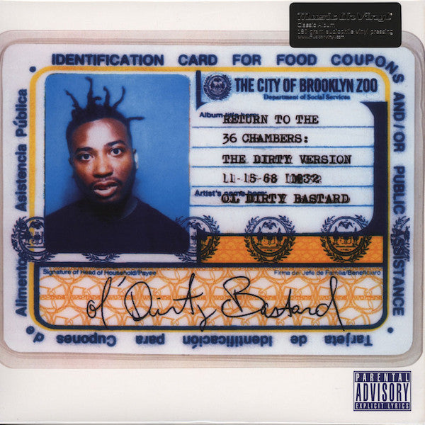 Ol' Dirty Bastard - Return To The 36 Chambers: The Dirty Version (Bonus Tracks) (2xLP, Album, RE, 180) - NEW