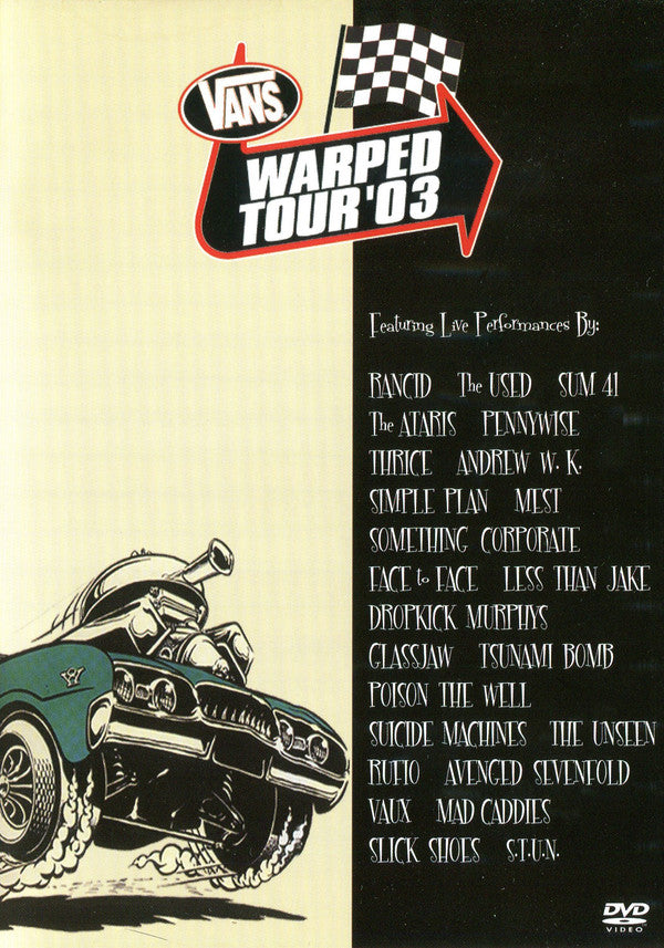 Various - Vans Warped Tour '03 (DVD-V, PAL, Reg) - USED