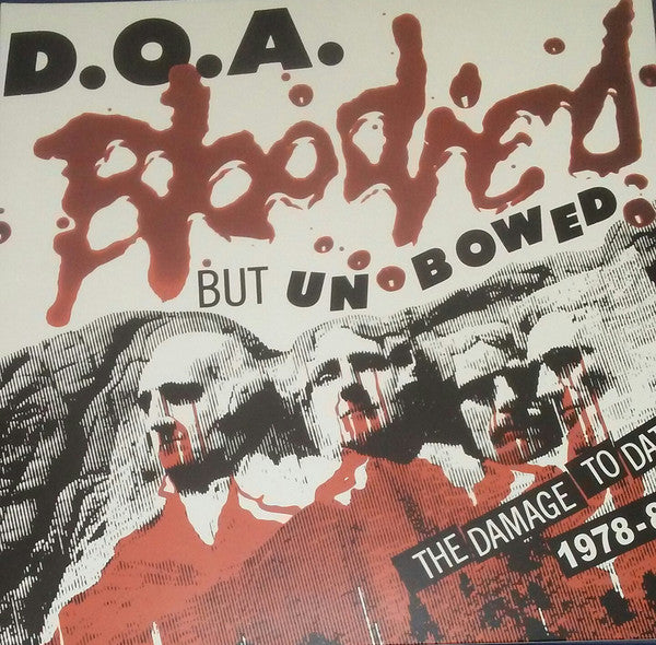 D.O.A. (2) - Bloodied But Unbowed (LP, Comp, Red) - NEW