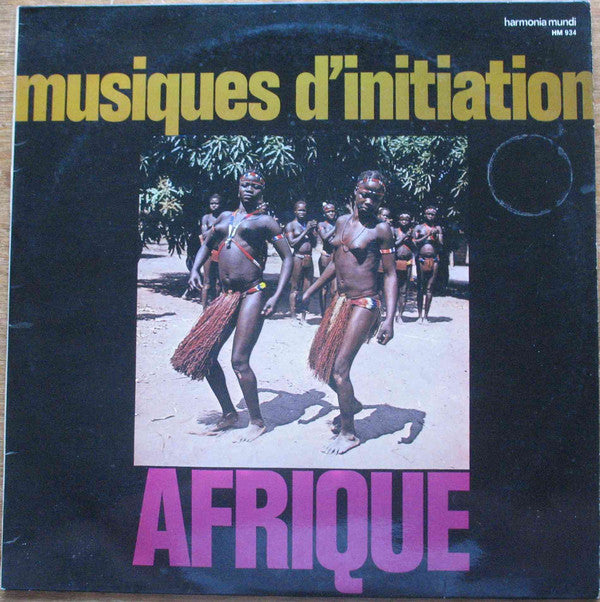 Various - Inititations - Chants & Danses D'Inititation En Afrique Centrale (LP) - USED